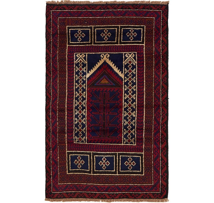 2' 10 x 4' 7 Balouch Persian Rug