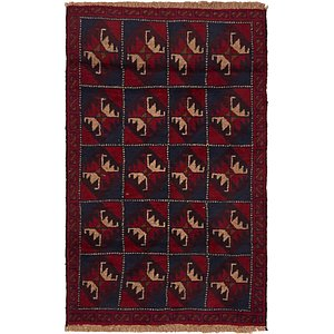 HandKnotted 2' 9 x 4' 7 Balouch Persian Rug
