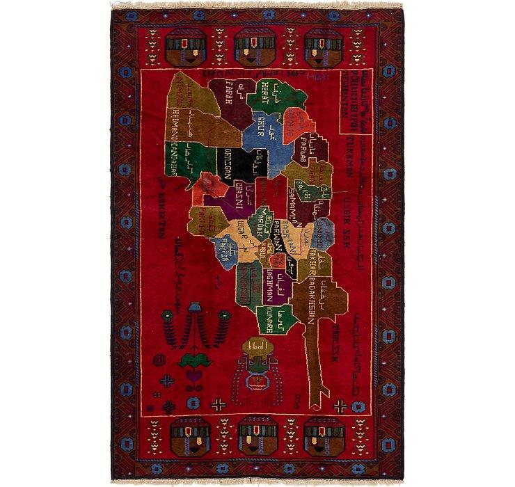 3' 10 x 6' 4 Balouch Persian Rug