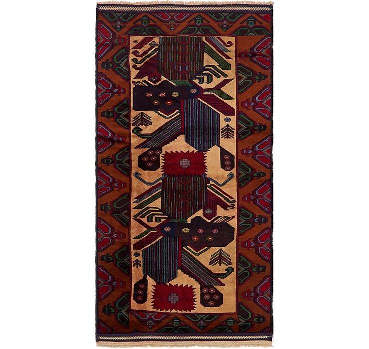 3' 4 x 6' 8 Balouch Persian Rug