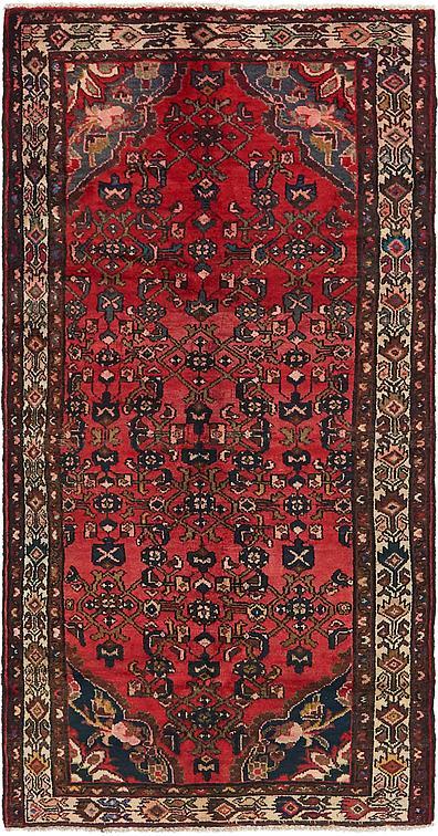 Red 3 3 X 6 10 Hossainabad Persian Runner Rug Persian