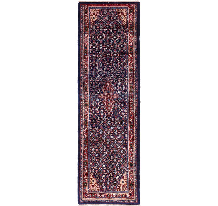 HandKnotted 3' 5 x 12' Mahal Persian Runner Rug