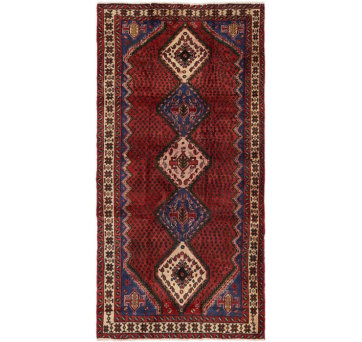 4' 9 x 9' 7 Chenar Persian Runner Rug