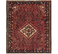 Link to 4' 5 x 5' 5 Hossainabad Persian Square Rug