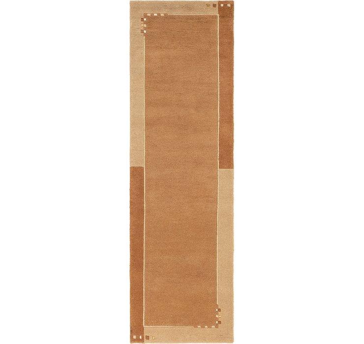 2' 8 x 8' 2 Modern Tibet Runner Rug