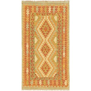 Unique Loom 2' 8 x 4' 10 Kilim Waziri Rug