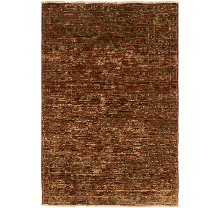 2' 7 x 4' Over-Dyed Ziegler Rug