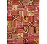Link to 7' 10 x 10' 10 Kilim Patchwork Rug