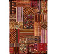 Link to 8' x 11' 4 Kilim Patchwork Rug