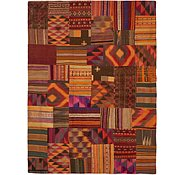 Link to 7' x 9' 5 Kilim Patchwork Rug