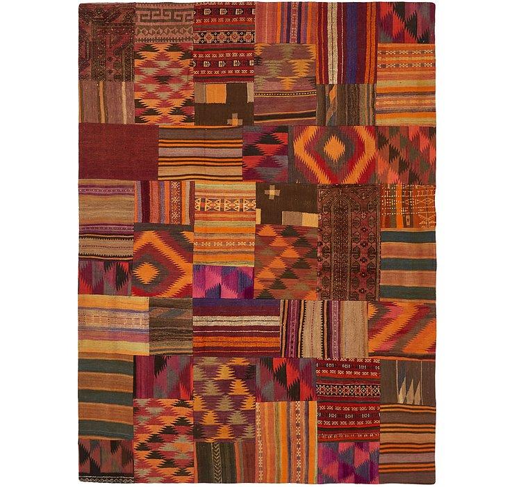 7' x 9' 5 Kilim Patchwork Rug
