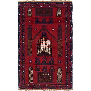 2' 7 x 4' 7 Balouch Persian Rug