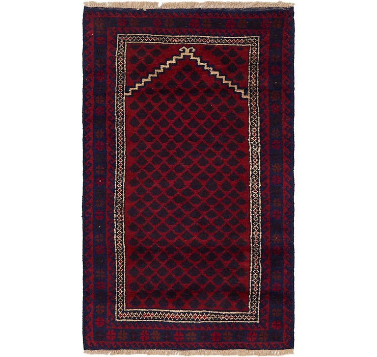 HandKnotted 2' 10 x 4' 7 Balouch Persian Rug