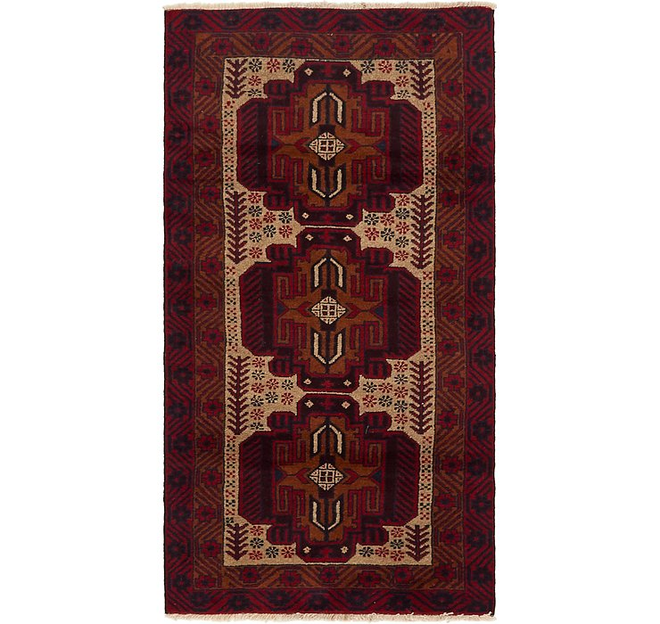 100cm x 190cm Balouch Persian Rug