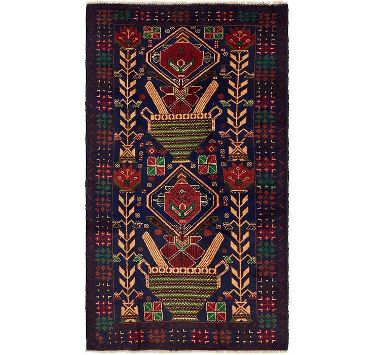 3' 8 x 6' 7 Balouch Persian Rug