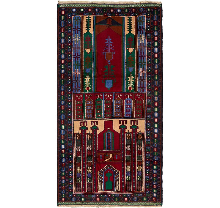 107cm x 208cm Balouch Persian Rug