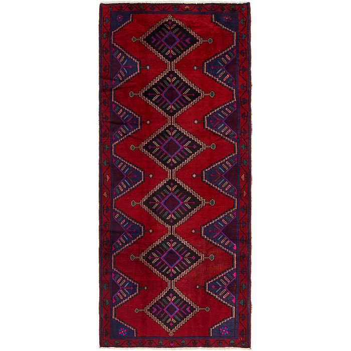4' x 9' 4 Chenar Persian Runner Rug