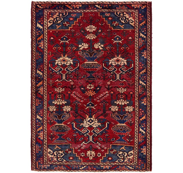 4' 6 x 6' 5 Hamedan Persian Rug