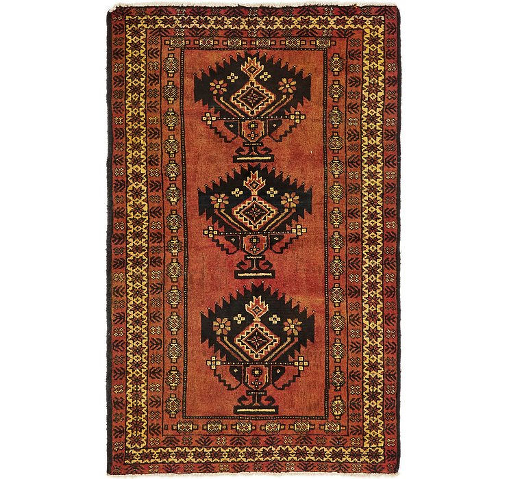 4' x 6' 10 Shiraz-Lori Persian Rug