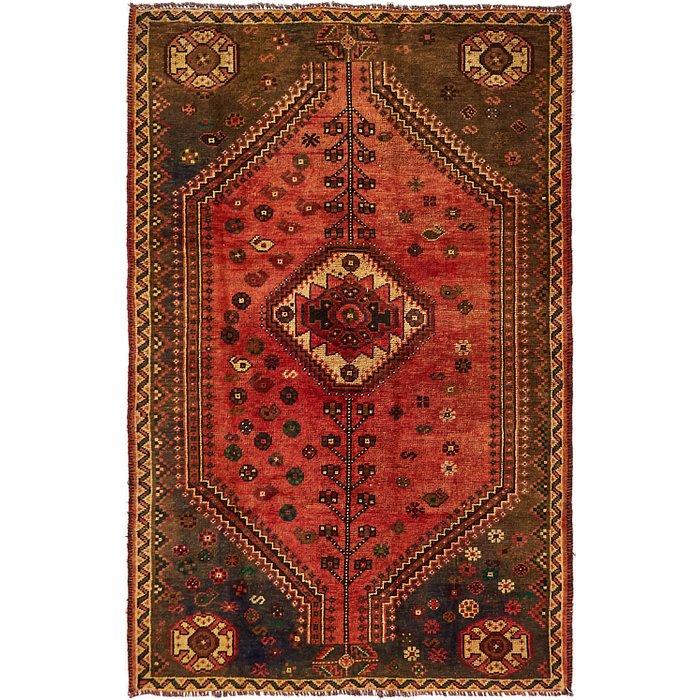4' 10 x 7' 5 Shiraz-Lori Persian Rug