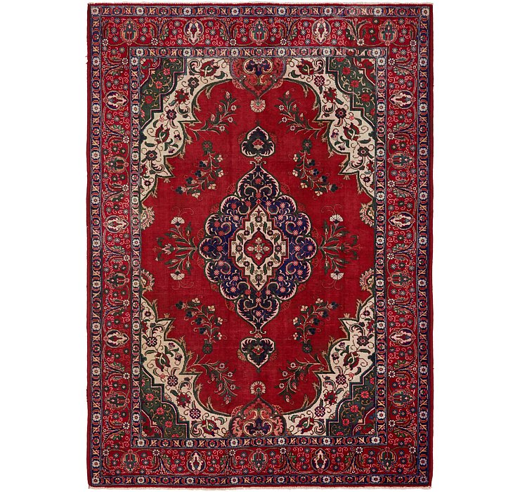 7' 7 x 10' 10 Tabriz Persian Rug