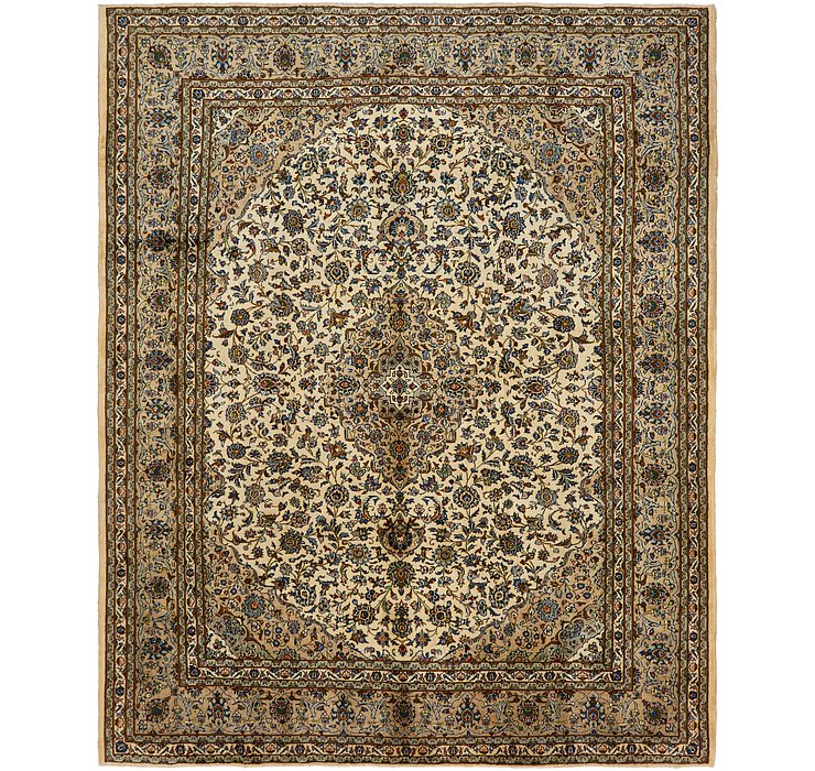 9' 8 x 12' 2 Kashan Persian Rug