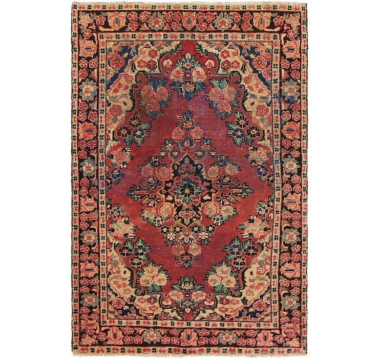 HandKnotted 4' x 6' 4 Hamedan Persian Rug