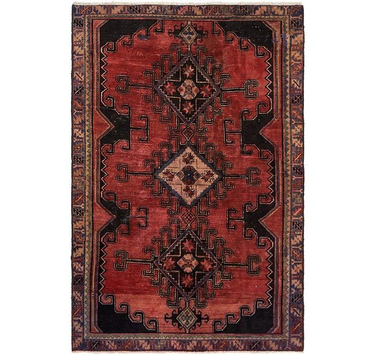 4' 3 x 6' 6 Hamedan Persian Rug