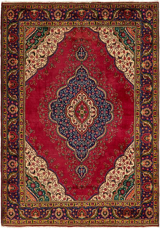 Red 9 3 X 13 4 Tabriz Persian Rug Persian Rugs Esalerugs