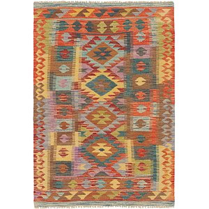 Unique Loom 3' 3 x 4' 10 Kilim Maymana Rug