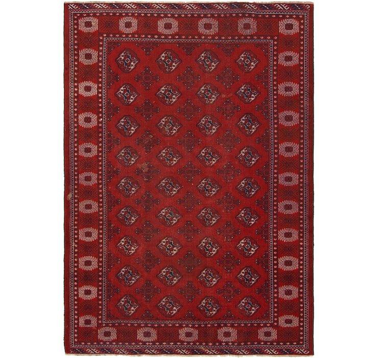 HandKnotted 6' 7 x 9' 6 Torkaman Persian Rug