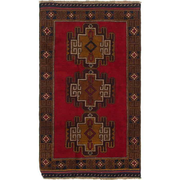 3' 6 x 6' Balouch Persian Rug
