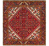 Link to 5' 2 x 5' 8 Hossainabad Persian Square Rug