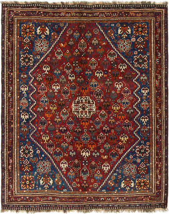 Burgundy 5 X 6 4 Ghashghaei Persian Rug Persian Rugs