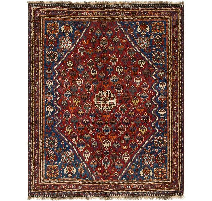 5' x 6' 4 Ghashghaei Persian Rug