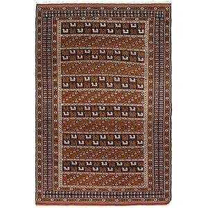 Unique Loom 4' x 6' 2 Balouch Persian Rug