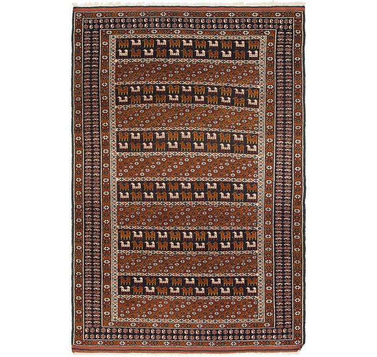 4' x 6' 2 Balouch Persian Rug