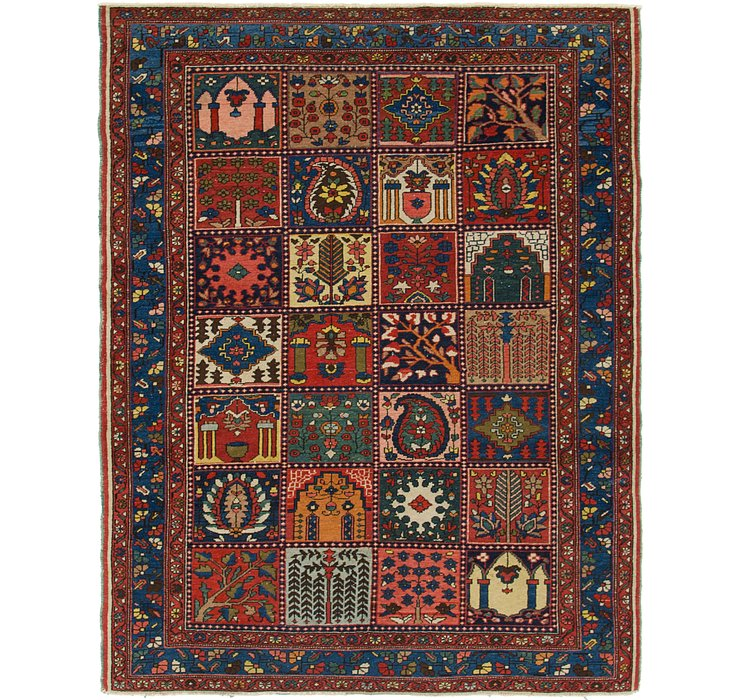 5' x 6' 4 Bakhtiari Persian Rug