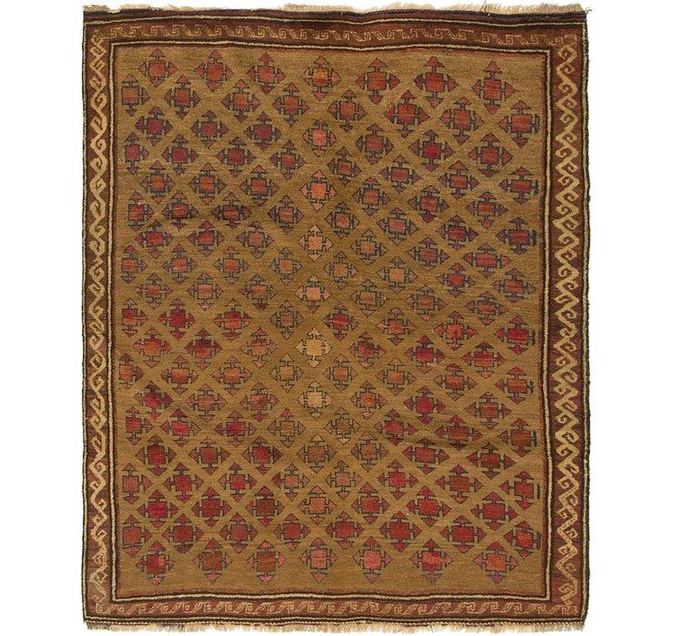 147cm x 183cm Shiraz-Lori Persian Rug