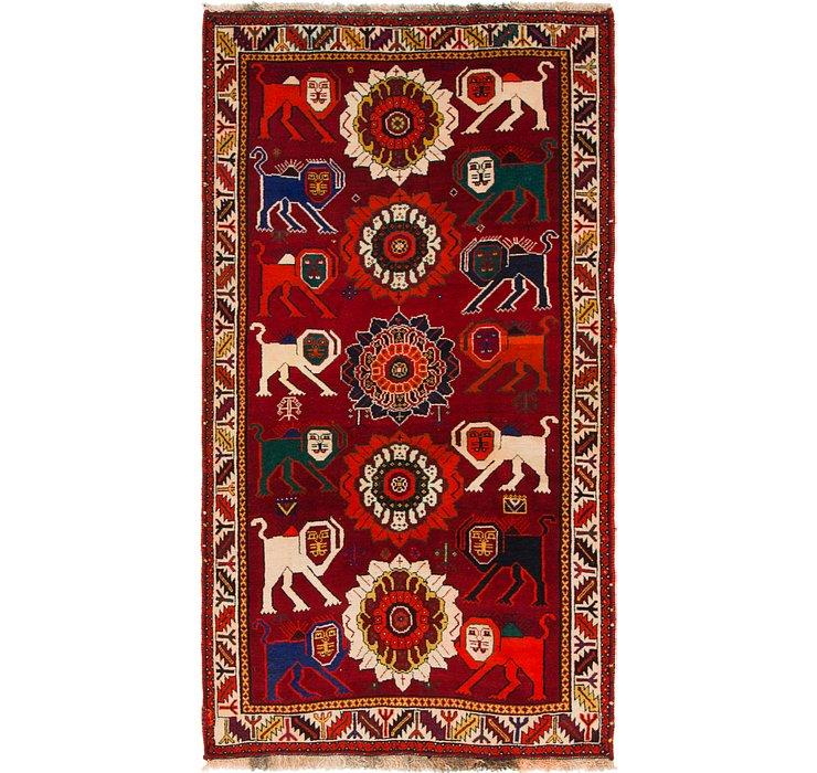 3' 6 x 6' 7 Ghashghaei Persian Rug