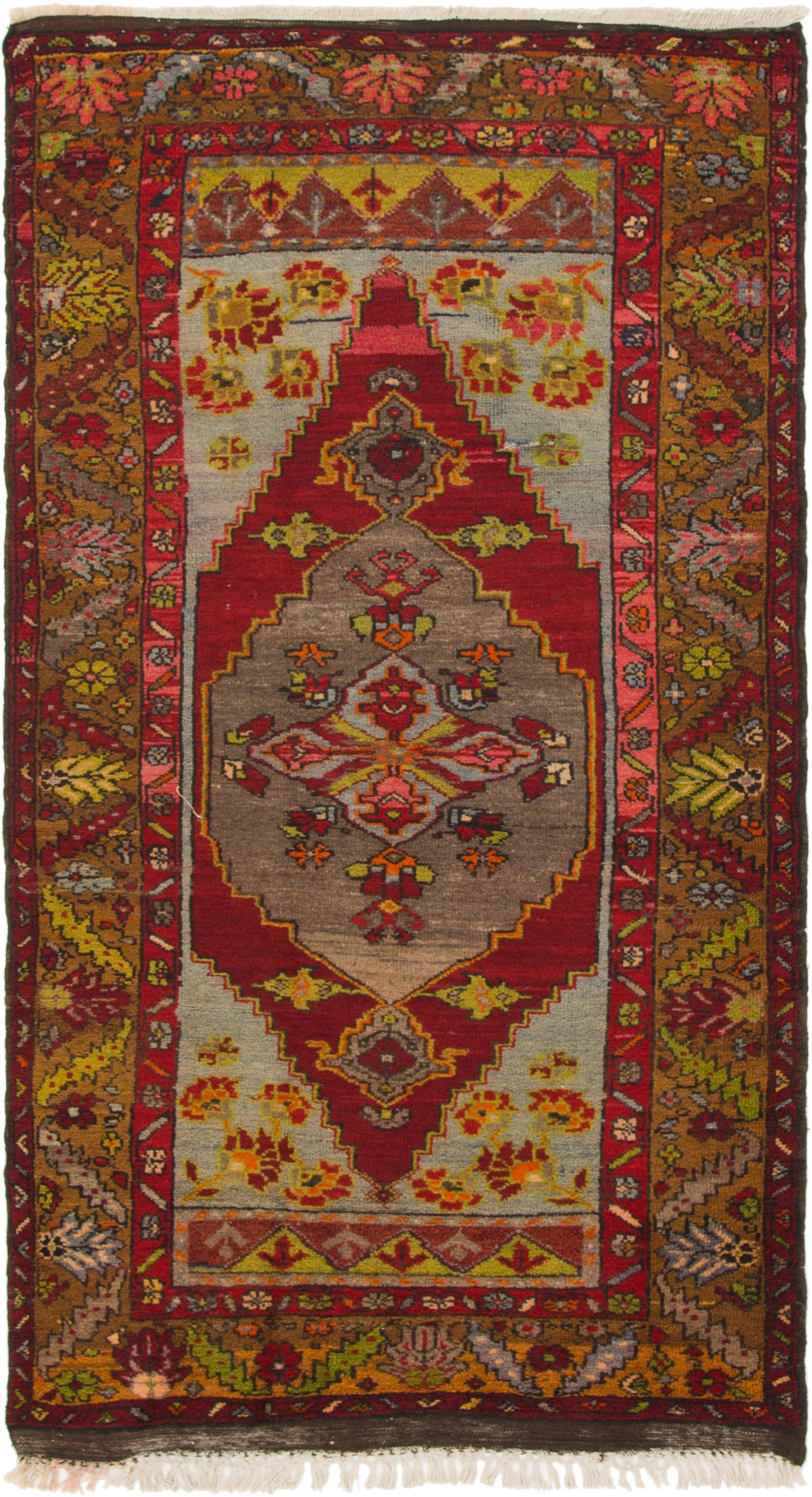 Red 3' 10 x 7' Kars Rug | HandKnotted com