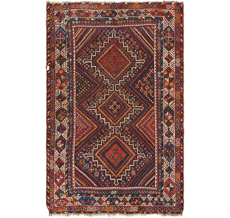 4' 7 x 7' 2 Shiraz Persian Rug