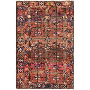4' 10 x 7' 8 Hamedan Persian Rug