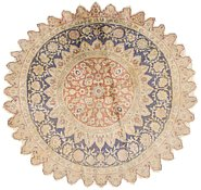 Link to 4' 2 x 4' 2 Qom Persian Round Rug