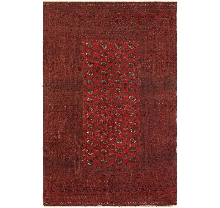 6' 2 x 9' 5 Torkaman Persian Rug