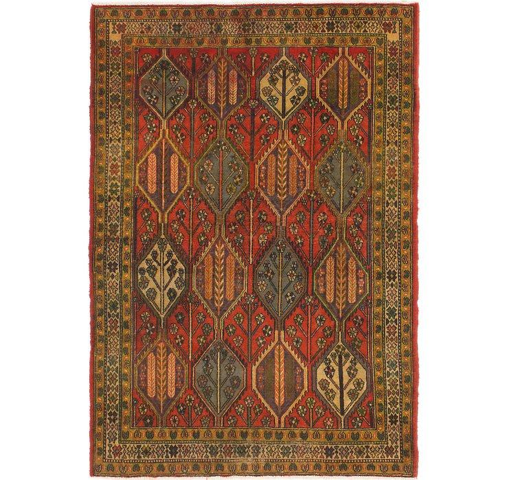 4' 9 x 7' Bakhtiari Persian Rug