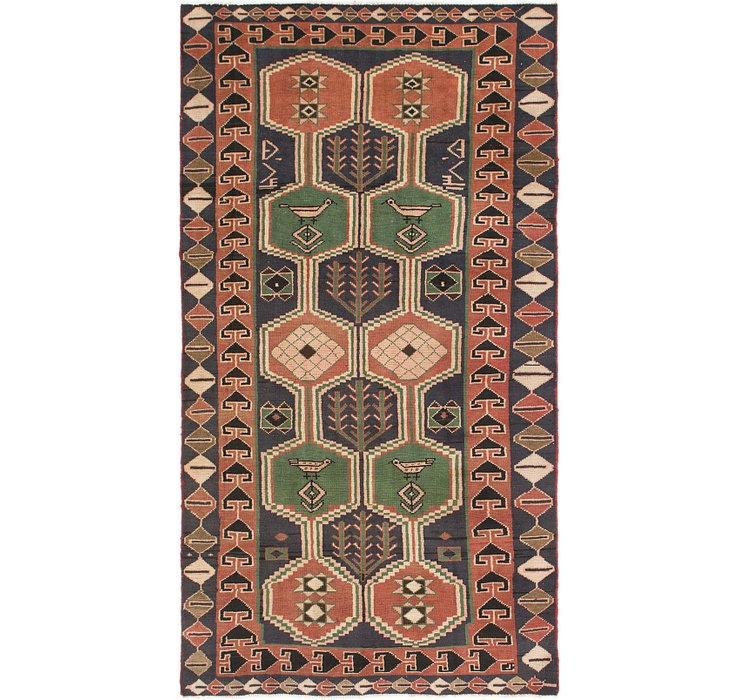 5' x 9' 7 Shiraz Persian Runner Rug