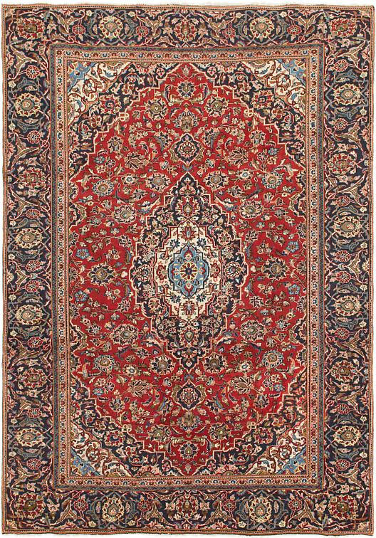 Red 7 6 X 10 7 Mashad Persian Rug Persian Rugs Esalerugs