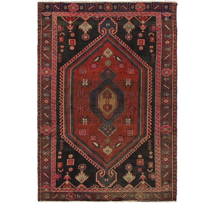 4' 2 x 6' 3 Khamseh Persian Rug