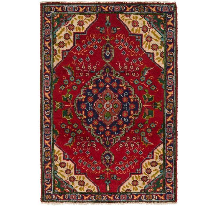 3' 2 x 4' 7 Tabriz Persian Rug